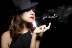 young adult smoking